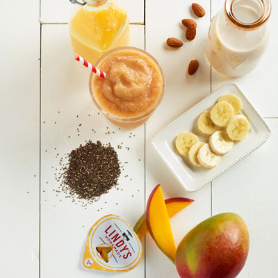 Banana Mango Smoothie Food Styling