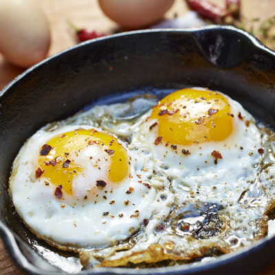 fried eggs food styling