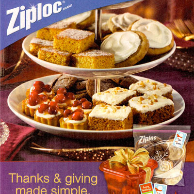 Ziploc Food Styling